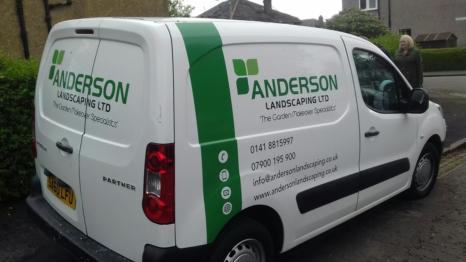 Vehicle Graphics Anderson Landscape Gardening Signage